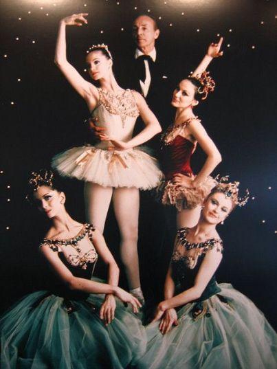 George Balanchine amb el repartiment original el 1967.