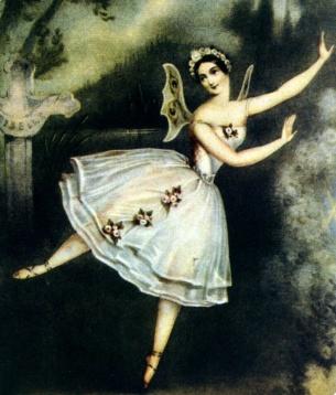 Carlota Grisi en el paper de Giselle, Acte II